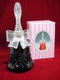 リボンの持ち手 ガラス製ベル型 パフューム・コロンボトル/香水ビン オールドAVON/エイボン 【SA0194】