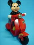 1982年☆マスダヤ☆増田屋☆ゼンマイ式 ミッキーマウススクーター 長さ 17.5cm 当時物 ディズニー 現状 【TO1181】