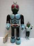 希少☆エンゼル 仮面ライダー ブリキ ロボット 22.5cm 当時物 動作確認 現状 歩行難アリ 【TO2897】