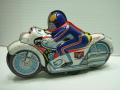 レア☆タカトク 仮面ライダー サイクロン号 ブリキ オートバイ 長さ22.5cm 当時物 現状 【TO2941】