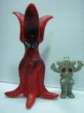 日東☆バイラス(ガメラ) ☆ソフビ人形 20.6cm スタンダード 当時物 版権有 現状 【TO3039】