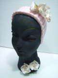 陶器製 モダン女性 ヘッドベース・フラワーベース 19.0cm 600g 当時物 刻印有 現状 【TO3526】