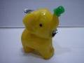 昭和レトロ☆かわいい ゾウ型 爪切り 黄色 8.0cm 当時物 JAPAN 現状 【TO3573】