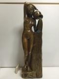 セクシー 裸婦 女性像 大型 42.0cm 現状 詳細不明 【TO3847】