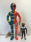タカトク 人造人間キカイダー スタンダード ソフビ人形 28.5cm 当時物 1972年 現状 【TO3911】