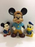 ナカジマ ミッキーマウス ソフビ人形 大 22.5cm 250g 当時物 JAPAN 現状 【TO4076】