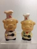 エースコック ブタさん ソフビ人形 貯金箱 10.5cm 当時物 企業物 非売品 現状 【TO4093】