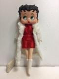 1986年☆ベティちゃん ベティ・ブープ 人形 大 29.5cm 260g 当時物 版権有 現状 詳細不明 【TO4416】
