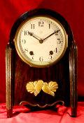 精巧舎 木製置時計 振り子つき手巻き時計  現状 【AW1004】