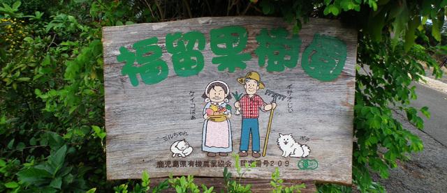 福留果樹園看板