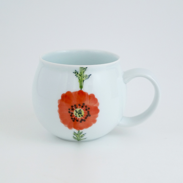 波佐見焼 陶房青 和食器 吉村陶苑 Ao AOSHOP フローラル 花 かわいい うつわ おしゃれ マグカップ