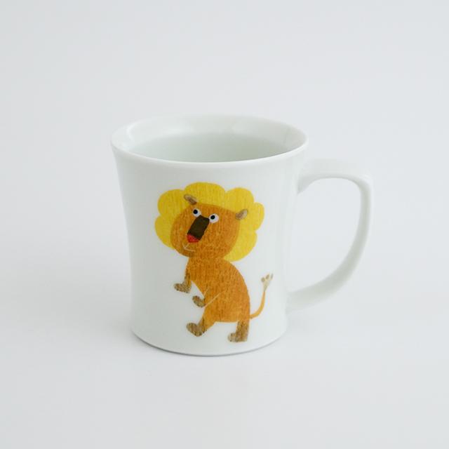 波佐見焼 陶房青 和食器 器 マグカップ カップ 子ども食器 こども 子供 M.Pots ライオン