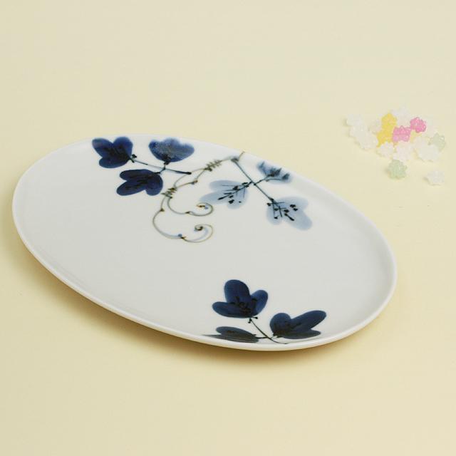 シダ紋 楕円皿