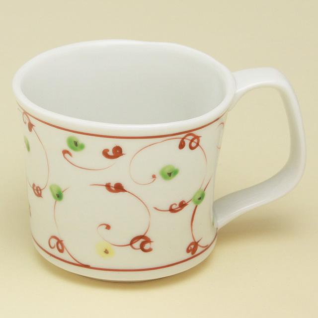赤絵唐草 マグカップ