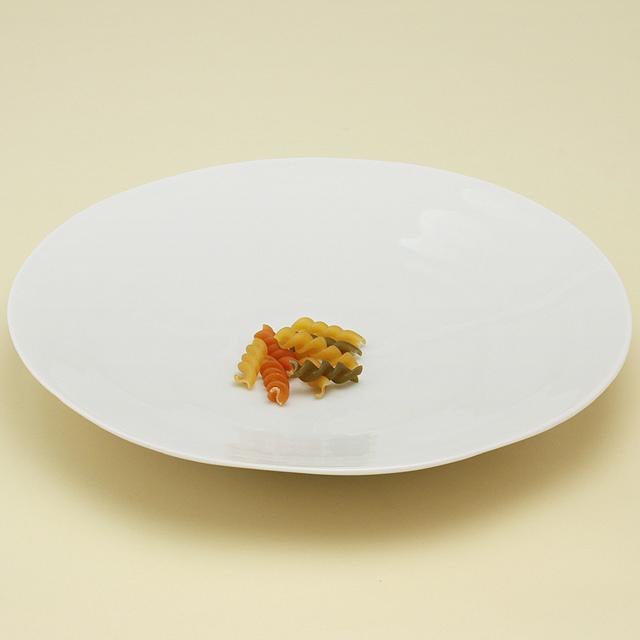 白亜 8寸皿