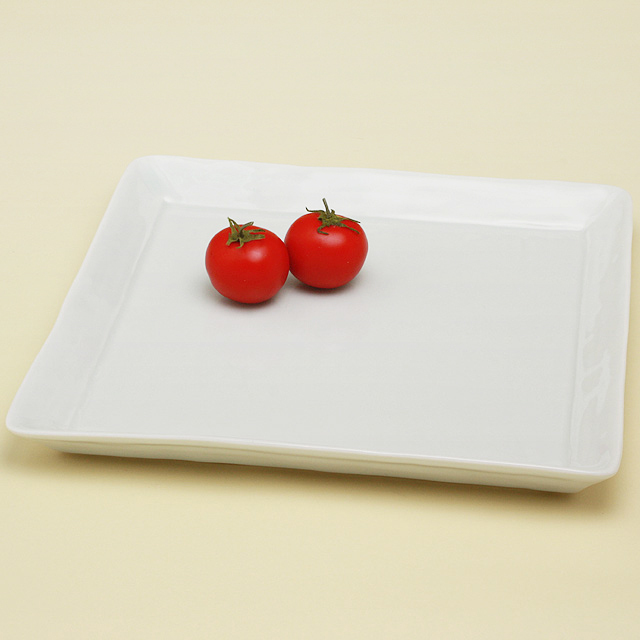 白亜 5寸角皿