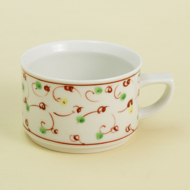 赤絵唐草 モーニングカップ
