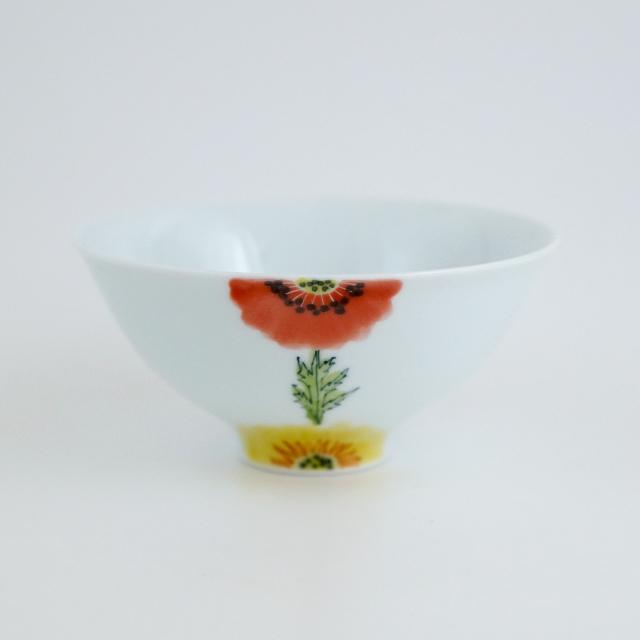 波佐見焼 陶房青 和食器 吉村陶苑 Ao AOSHOP フローラル 花 かわいい うつわ おしゃれ 茶碗 飯碗