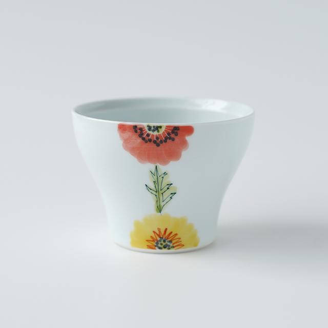 波佐見焼 陶房青 和食器 吉村陶苑 Ao AOSHOP フローラル 花 かわいい うつわ おしゃれ カップ 新仙茶