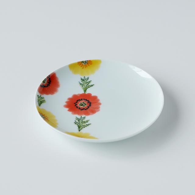 波佐見焼 陶房青 和食器 吉村陶苑 Ao AOSHOP フローラル 花 かわいい うつわ おしゃれ 丸皿 プレート