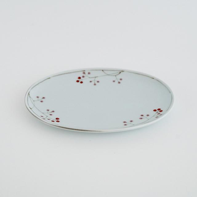 波佐見焼 陶房青 和食器 吉村陶苑 Ao AOSHOP 楕円皿 ケーキ皿 取皿 木の実