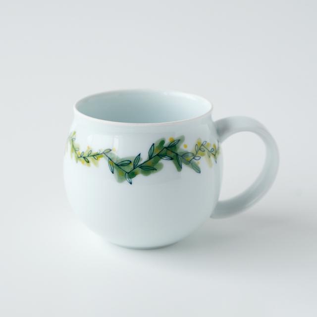 波佐見焼 陶房青 和食器 吉村陶苑 Ao AOSHOP  ボタニカル 北欧 ナチュラル マグカップ
