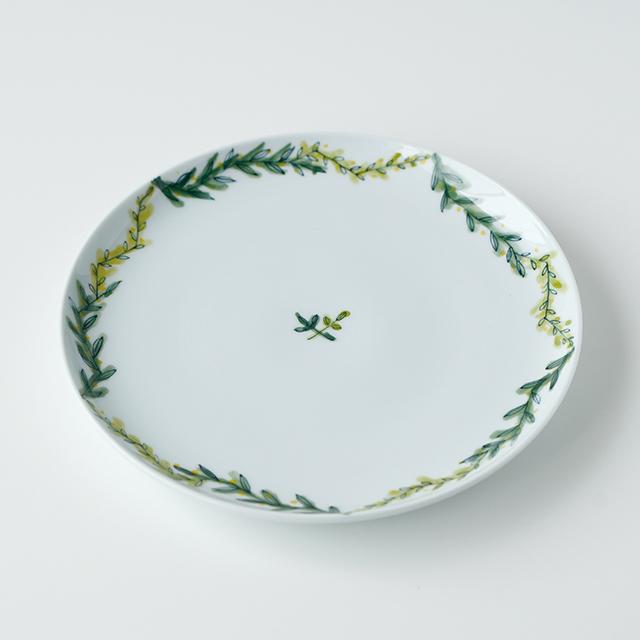 波佐見焼 陶房青 和食器 吉村陶苑 Ao AOSHOP  ボタニカル 北欧 ナチュラル 丸皿 プレート 取皿 パン皿
