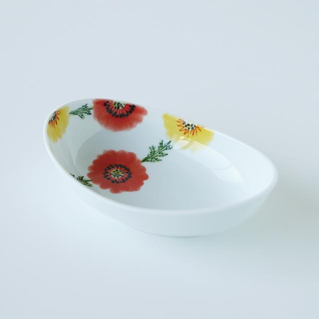 波佐見焼 和食器 うつわ 器 うつわ好き  陶房青 ボタニカル 楕円鉢 ボウル 鉢 小鉢