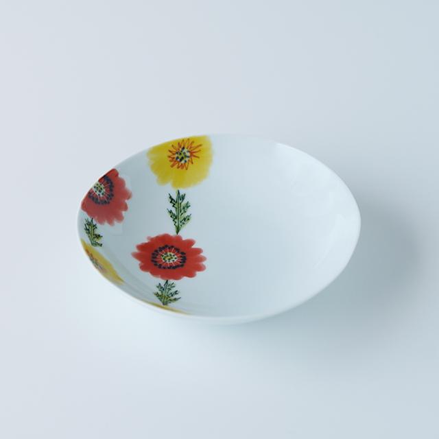 波佐見焼 陶房青 和食器 器 うつわ 鉢 ボウル うすで 5寸鉢 フローラル ボタニカル