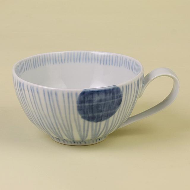 丸紋十草 スープカップ