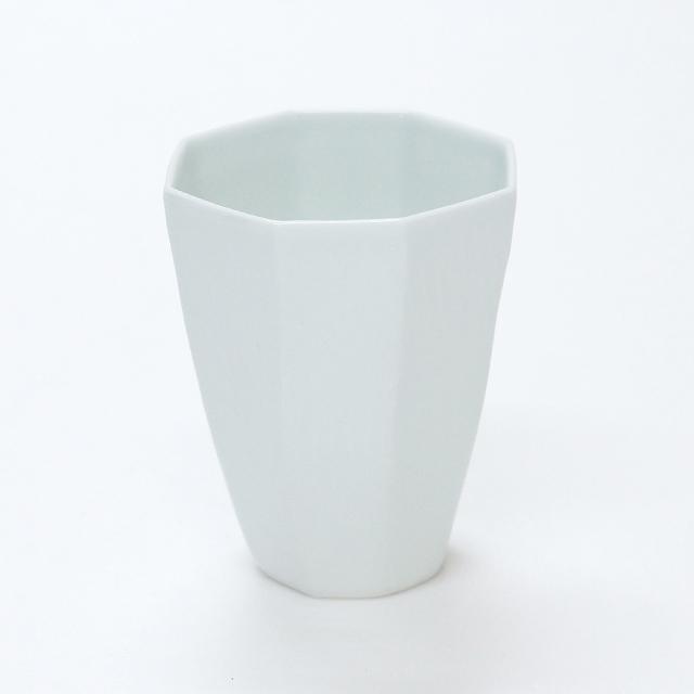 【和食器通販】陶房青専門ショップAo 波佐見焼 吉村陶苑 白磁 八角カップ フリーカップ
