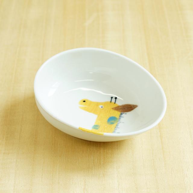 【陶房青専門ショップAo】波佐見焼 青 吉村陶苑 Mpots  子供用食器 きりん ボウル