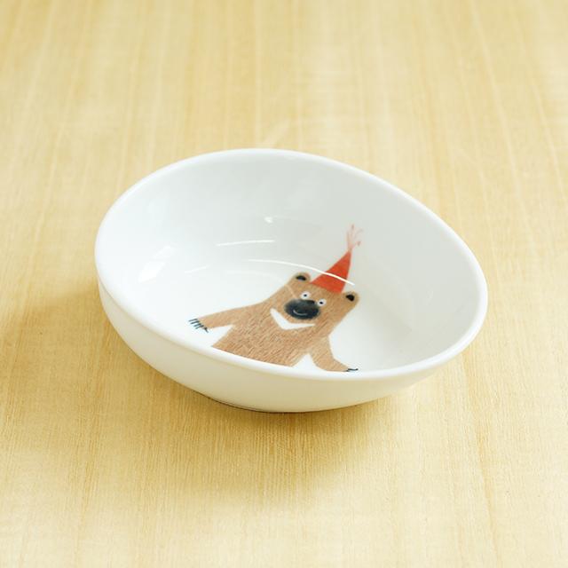 【陶房青専門ショップAo】波佐見焼 青 吉村陶苑 Mpots  子供用食器 くま ボウル