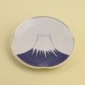 染付富士山 3.5寸皿(金付)