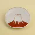 赤富士山 3.5寸皿(金付)