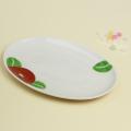 赤椿 楕円皿