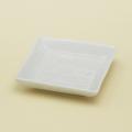 白亜 3寸角皿