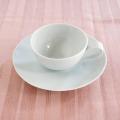 白亜 7寸皿&スープカップセット<ラッピング>