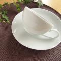 白亜 スープカップ & ソーサー(7寸皿)<ラッピング>