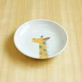 【陶房青専門ショップAo】波佐見焼 青 吉村陶苑 Mpots  子供用食器 きりん 丸皿 取皿