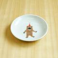【陶房青専門ショップAo】波佐見焼 青 吉村陶苑 Mpots  子供用食器 くま 丸皿 取皿