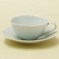 青白磁線彫 ティーカップ&ソーサー