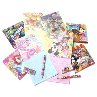ディズニー折り紙メモ3点文具セット 24入
