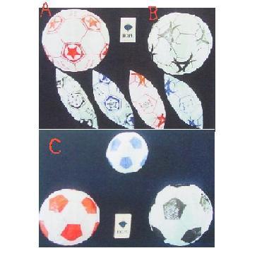 紙フーセン サッカーボール4号(3色セット) 1セット