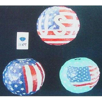 紙フーセン 星条旗3号(3柄セット) 1セット
