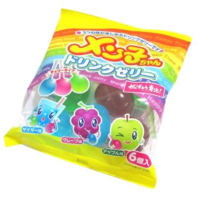 6個入 メン子ちゃんドリンクゼリー 1袋 【送料サービス対象外商品】