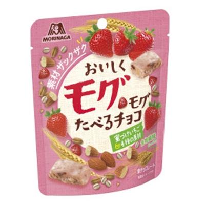 おいしくモグモグたべるチョコ 蜜づけいちご&4種の素材 8入
