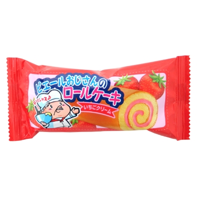 ピエールおじさんのロールケーキいちごクリーム 24入