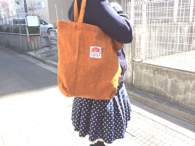 オリジナルバッグ持った所
