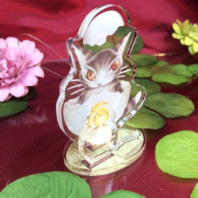 ダヤンのアクリル製スタンド卵の全体画像